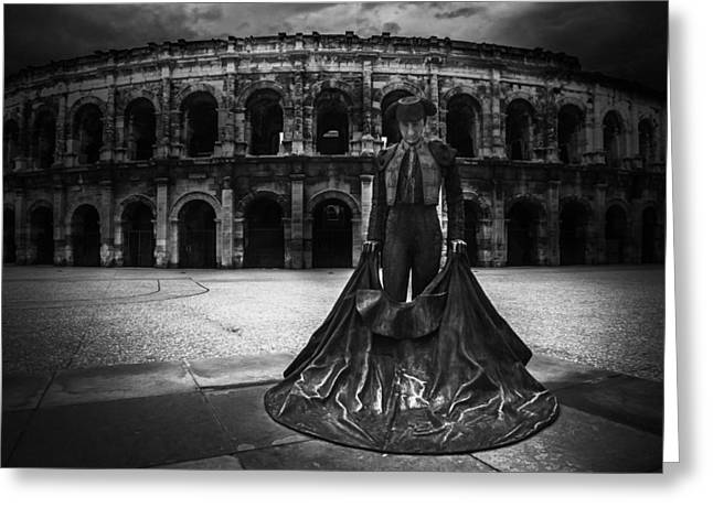 Amphitheater Greeting Cards - Arena of Nimes v.1 Greeting Card by Erik Brede