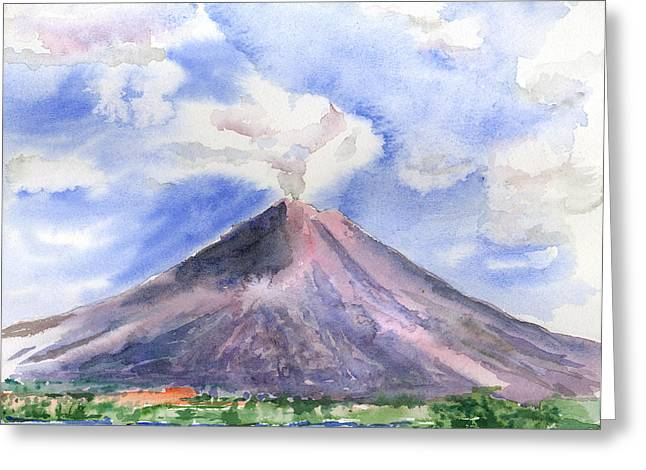 Costa Rica Greeting Cards - Arenal Volcano Costa Rica Greeting Card by Arline Wagner
