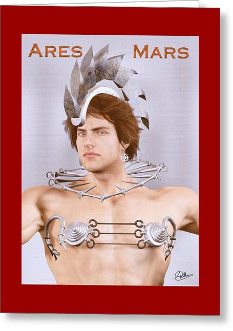 Phobos Greeting Cards - Ares god of war By Quim Abella Greeting Card by Joaquin Abella