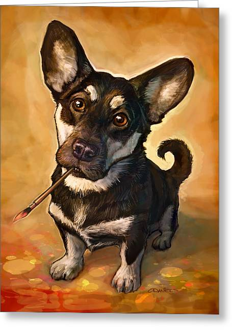 Dogs Digital Greeting Cards - Arfist Greeting Card by Sean ODaniels
