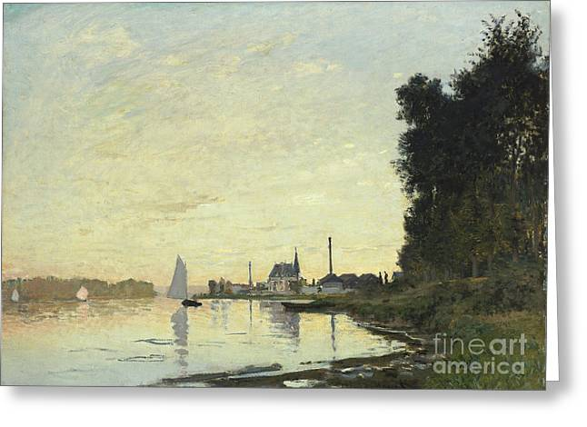 Yachting Greeting Cards - Argenteuil in Late Afternoon Greeting Card by Claude Monet