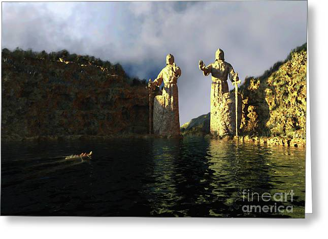 Lord Sculptures Greeting Cards - Argonauth Greeting Card by Dave Luebbert