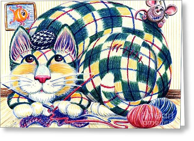Argyle Greeting Card by Dee Davis