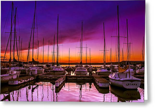 Masts Greeting Cards - Arianas Sunset Greeting Card by TK Goforth