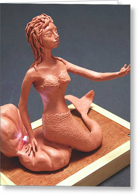 Mermaids Sculptures Greeting Cards - Ariel Greeting Card by Yelena Rubin