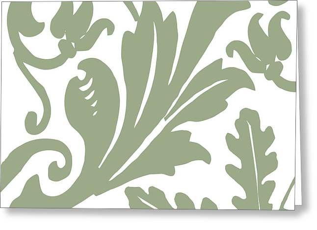Fleur De Lis Greeting Cards - Arielle Olive Greeting Card by Mindy Sommers