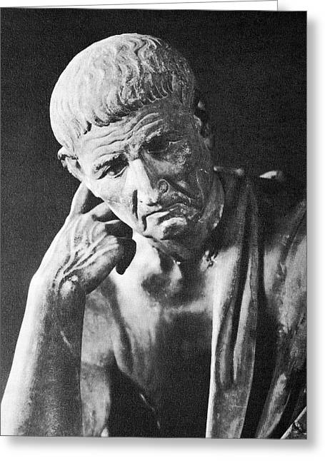 Greek Sculpture Greeting Cards - Aristotle, Greeting Card by