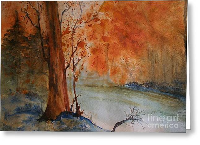 Fall Photographs Paintings Greeting Cards - Arizona Burning Greeting Card by Julie Lueders