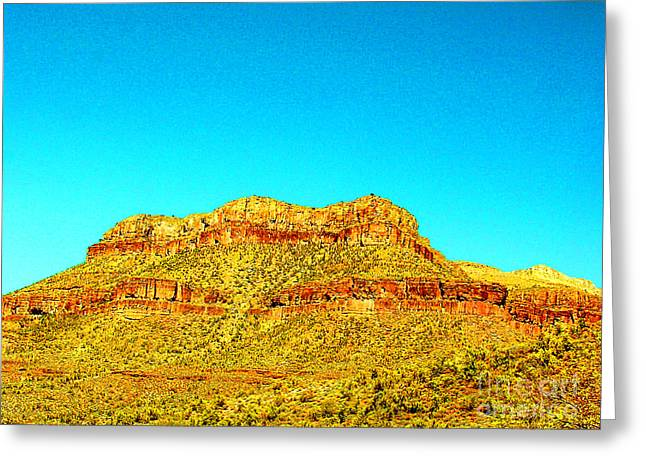 Caves Greeting Cards - Arizona Butte with Indian Caves Greeting Card by Merton Allen