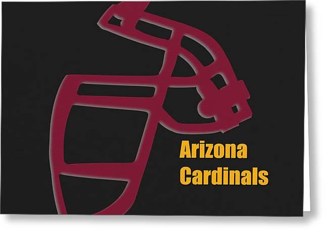 Arizona Cardinals Greeting Cards - Arizona Cardinals Retro Greeting Card by Joe Hamilton