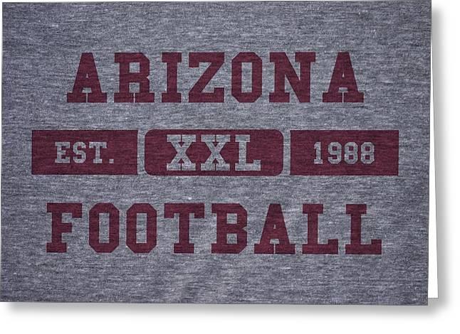 Arizona Cardinals Greeting Cards - Arizona Cardinals Retro Shirt Greeting Card by Joe Hamilton