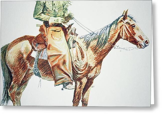 Arizona Cowboy, 1901 Greeting Card by Frederic Remington