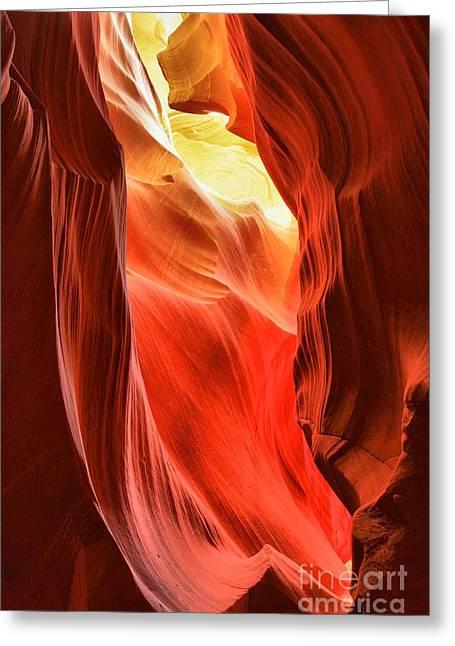 Arizona Desert Flames Greeting Card by Adam Jewell