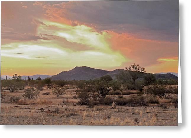 Arizona Skies Greeting Card by Gordon Beck