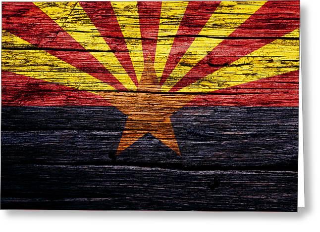 Arizona State Flag 2w Greeting Card by Brian Reaves