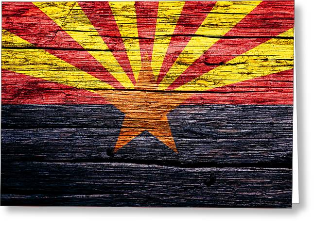 Arizona State Flag 3w Greeting Card by Brian Reaves