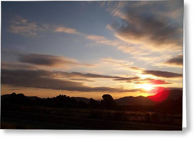 Firmament Greeting Cards - Arizona Sunrise Greeting Card by Glenn McCarthy Art and Photography