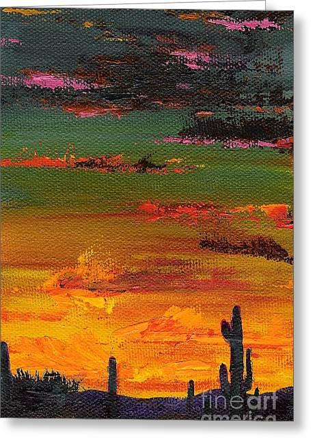 Skys Greeting Cards - Arizona Sunset Greeting Card by Frances Marino