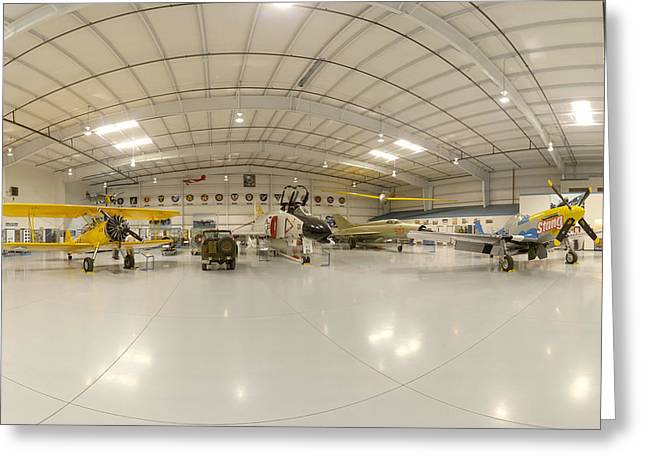 Arizona Wing Of The Commemorative Air Force Hangar March 28 2011 Greeting Card by Brian Lockett