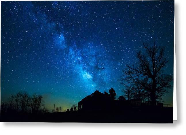 Jaspar Greeting Cards - Arkansas Milky Way Greeting Card by Emil Davidzuk