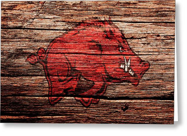 Arkansas Razorbacks 1a Greeting Card by Brian Reaves
