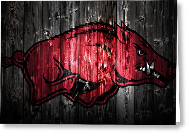 Arkansas Razorbacks 2a Greeting Card by Brian Reaves