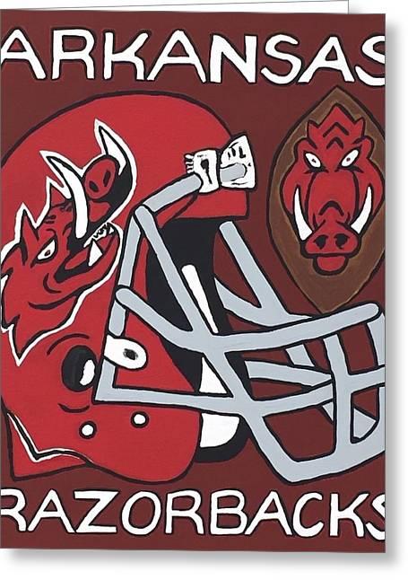 Arkansas Razorbacks Greeting Card by Jonathon Hansen