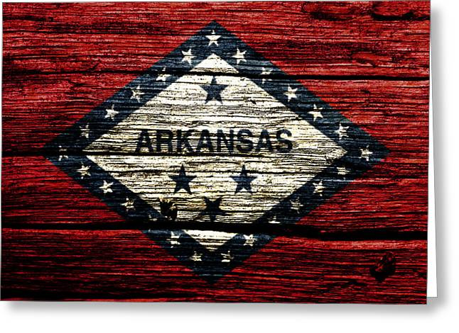 Arkansas State Flag W2 Greeting Card by Brian Reaves