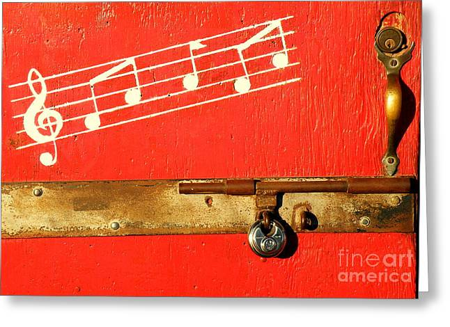 Saloons Greeting Cards - ARKEY BLUEs DOOR Greeting Card by Joe Jake Pratt