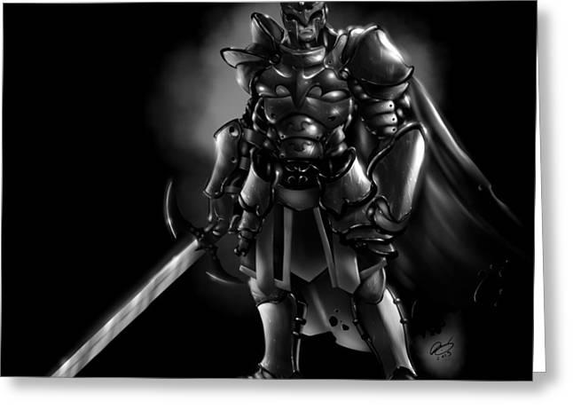 Batman Greeting Cards - Arkham Knight Greeting Card by Pete Tapang
