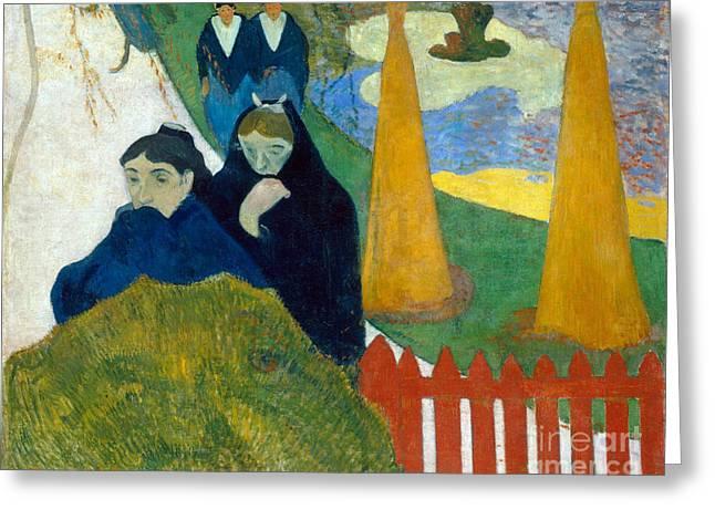 Vintage Painter Greeting Cards - Arlesiennes Greeting Card by Gauguin