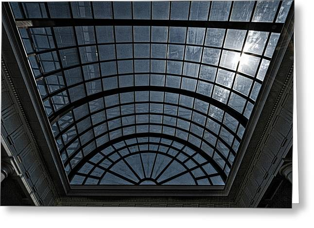 Historic Site Greeting Cards - Arlington Cemetery Visitor Center Skylight Greeting Card by Stuart Litoff