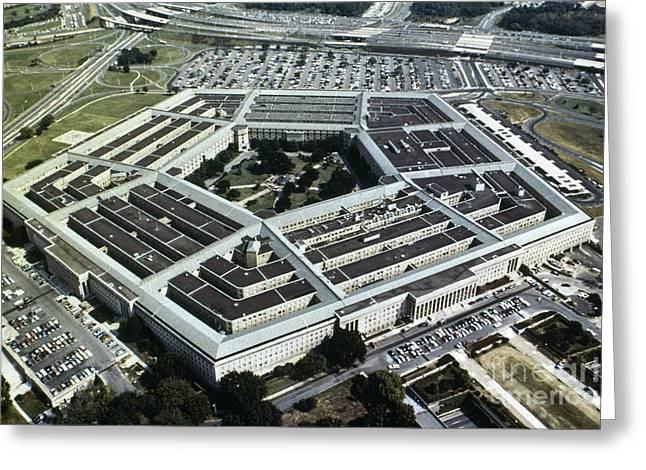 Pentagon Greeting Cards - Arlington: Pentagon Greeting Card by Granger