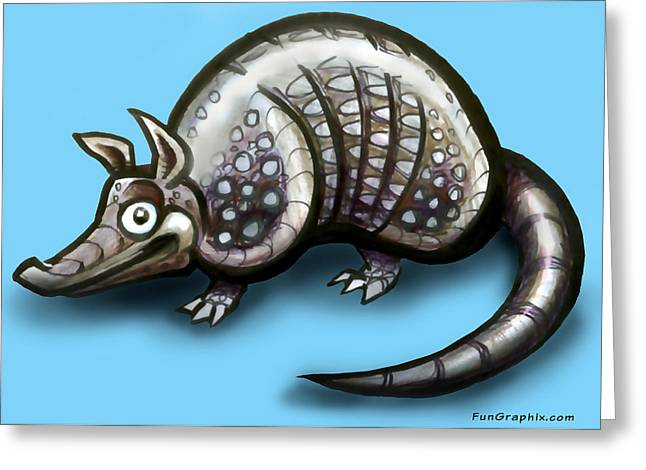 Armadillo Greeting Card by Kevin Middleton