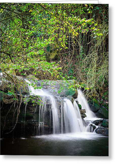 Armes Waterfall Greeting Card by Marco Oliveira