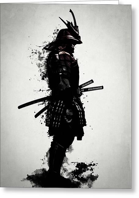 Armored Samurai Greeting Card by Nicklas Gustafsson