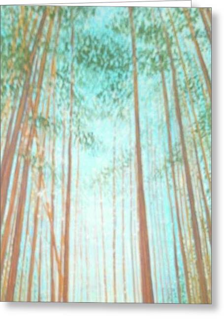 Mystical Landscape Greeting Cards - Armstrong Grove 1 Greeting Card by Kathleen Oettinger