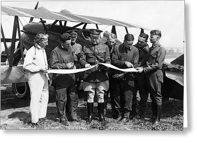 Army Air Service Pilots Greeting Card by Underwood Archives