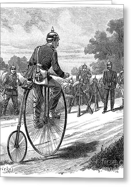 1890s Greeting Cards - ARMY MESSENGER, 1890s Greeting Card by Granger