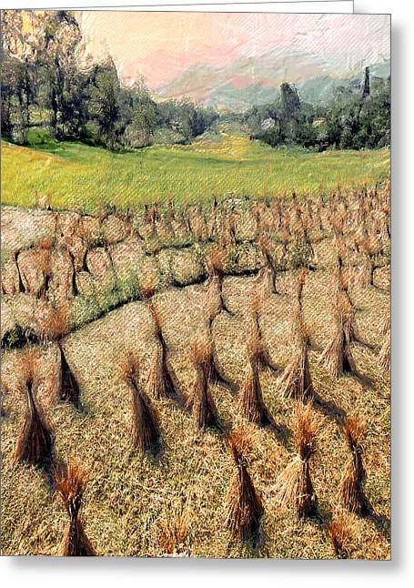 Cultivation Digital Art Greeting Cards - Army of Straw Men Greeting Card by Carl Rolfe