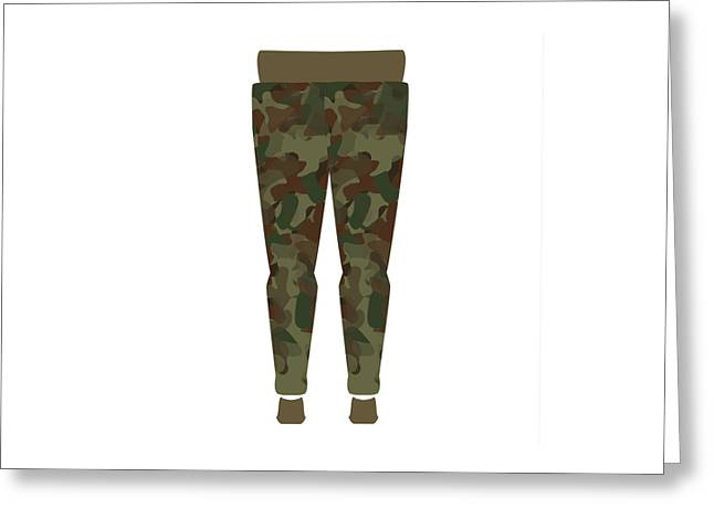Female Body Greeting Cards - Army Pants Model Greeting Card by Dragana  Gajic