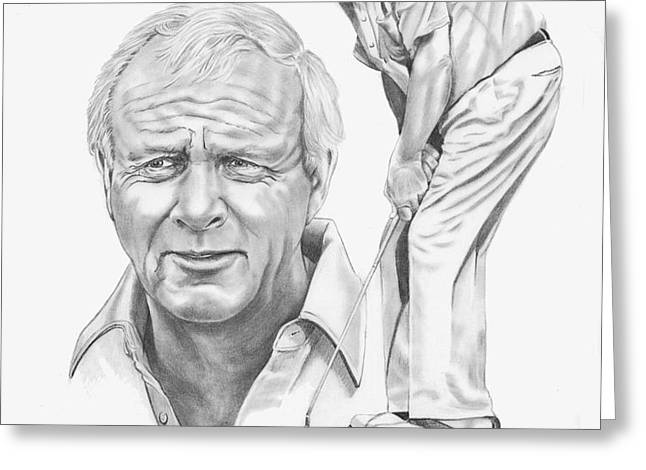 Arnold Palmer Greeting Card by Murphy Elliott