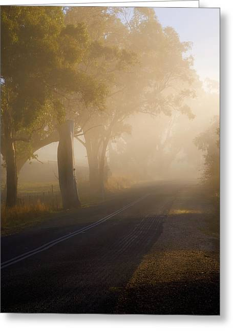 Country Road Greeting Cards - Around the Bend Greeting Card by Mike  Dawson