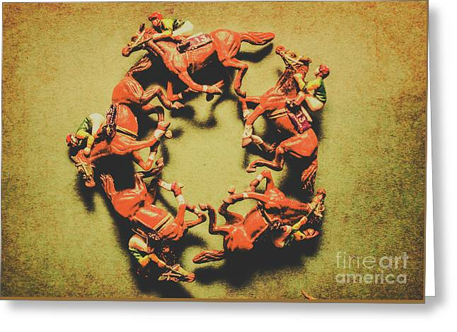 Around The Racetrack Greeting Card by Jorgo Photography - Wall Art Gallery