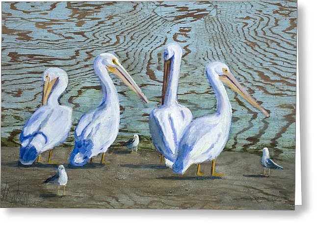 Around The Water Cooler Greeting Card by Billie Colson