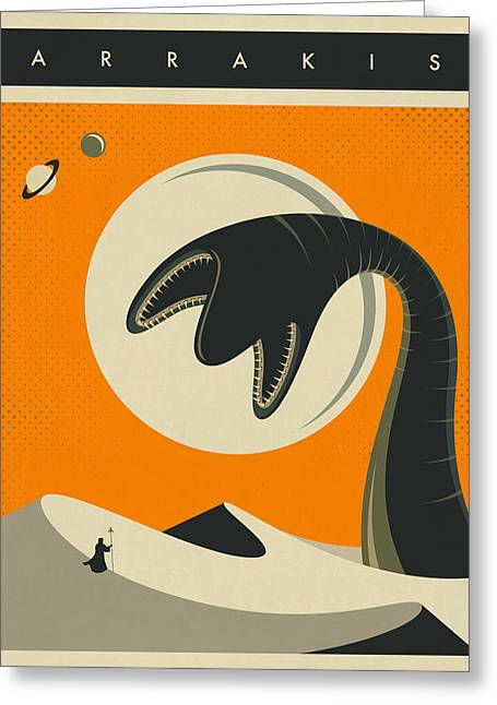 Arrakis Travel Poster Greeting Card by Jazzberry Blue