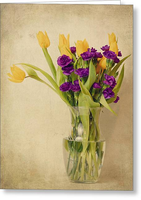Tabletop Greeting Cards - Arranged Greeting Card by Jennifer Evans