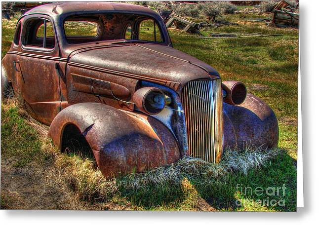Rusted Cars Greeting Cards - Arrested Decay Greeting Card by Scott McGuire