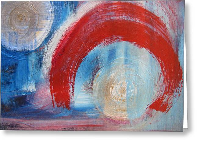 Abstract Orbs Greeting Cards - Arrival Time Greeting Card by Lindie Racz
