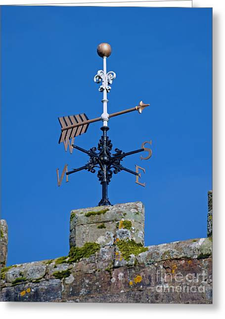 Weathervane Greeting Cards - Arrow weathervane.  Greeting Card by Stan Pritchard